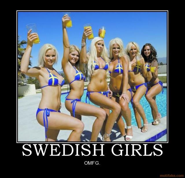 Nous nous sommes fait des ami(e)s en Suède. De gauche à droite :Åsa, Therese, Ulrika, Hanna, Malin et Jeanette