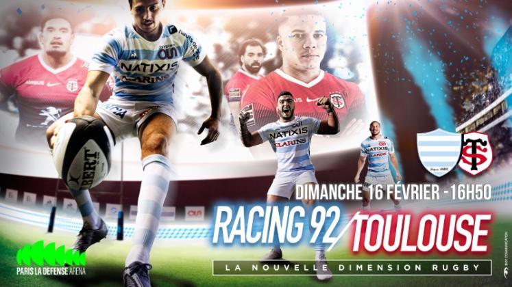 10 bonnes raisons d'aller voir Racing 92 - Stade Toulousain à Paris La Défense Arena