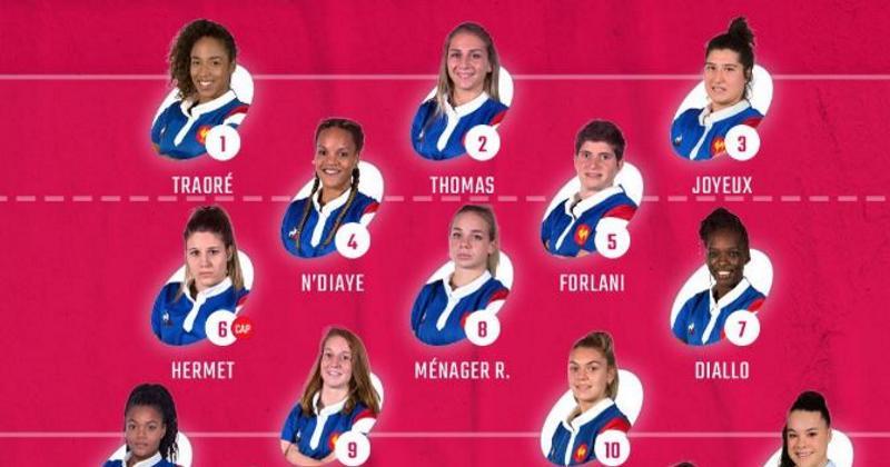 6 Nations 2019 - la composition du XV de France Féminin face à l'Ecosse