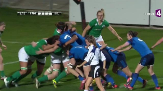 VIDEO. Tournoi des 6 Nations : France Féminines enchaîne en battant l'Irlande (18-6)