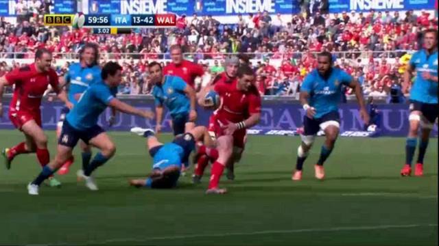 VIDEO. 6 nations. Le Pays de Galles atomise l'Italie avec un triplé de North et un essai de 100m