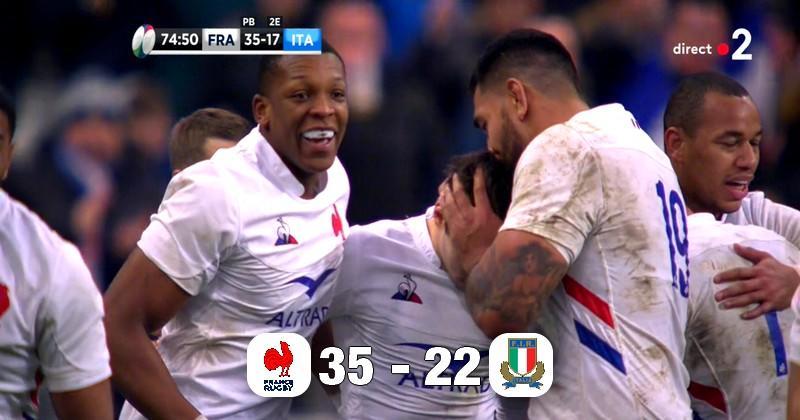 6 Nations - Le XV de France en tête du Tournoi après sa victoire bonifiée sur l'Italie