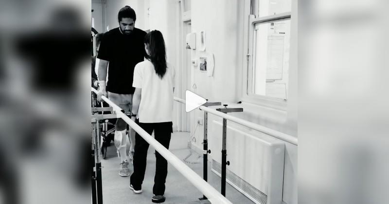 6 semaines après sa grave blessure à la colonne, Michael Fatialofa se bat pour marcher [VIDÉO]