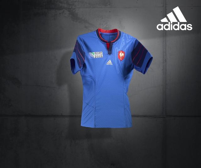 PHOTOS. Adidas dévoile le maillot du XV de France pour la Coupe du Monde de rugby 2015