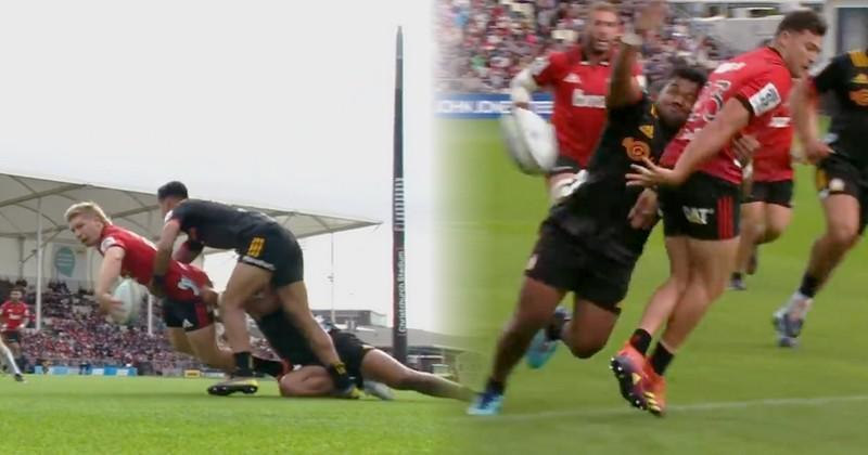 Super Rugby - Offloads à gogo et pluie d'essais entre les Crusaders et les Chiefs [VIDEO]