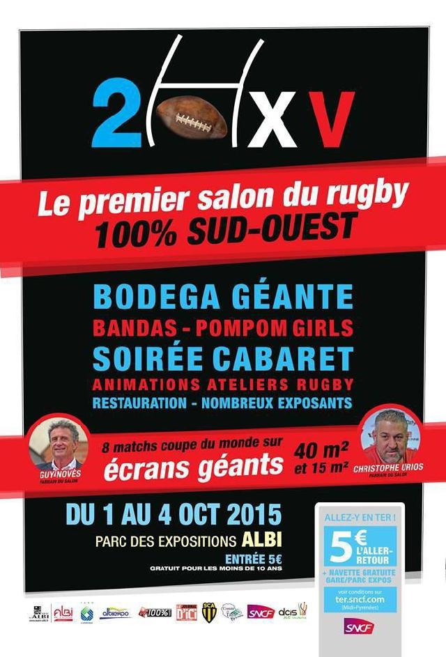 Nous serons au salon du Rugby 20XV du 1 au 4 Octobre à Albi