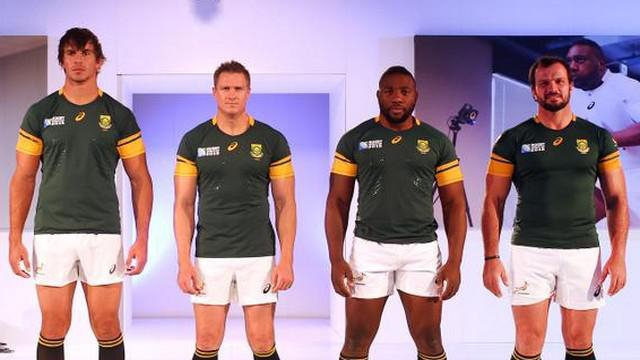Afrique du sud les springboks d voilent leur nouveau maillot pour la coupe du monde le - Coupe du monde foot afrique du sud ...