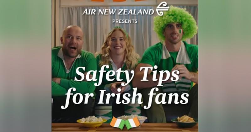 WTF - Air New Zealand se paie la tête des supporters irlandais dans une pub géniale [VIDÉO]