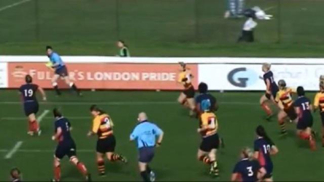 VIDEO. Rugby féminin - Alice Richardson traverse le terrain en enrhumant quatre défenseurs