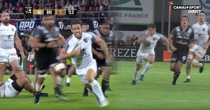 VIDEO. Top 14 - Stade Toulousain - Antoine Dupont et Zack Holmes enfoncent Brive