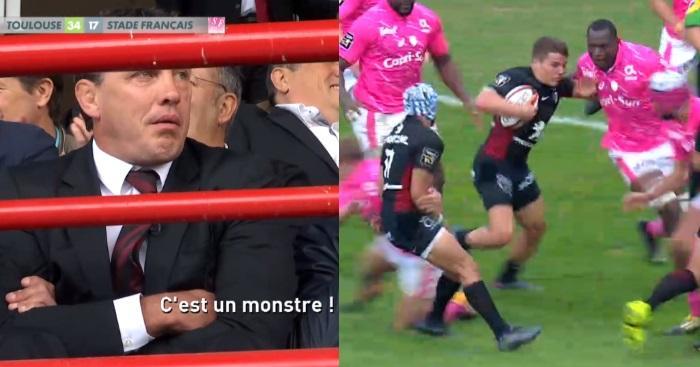 Antoine de Caunes débarque entièrement nu sur scène — Nuit du Rugby