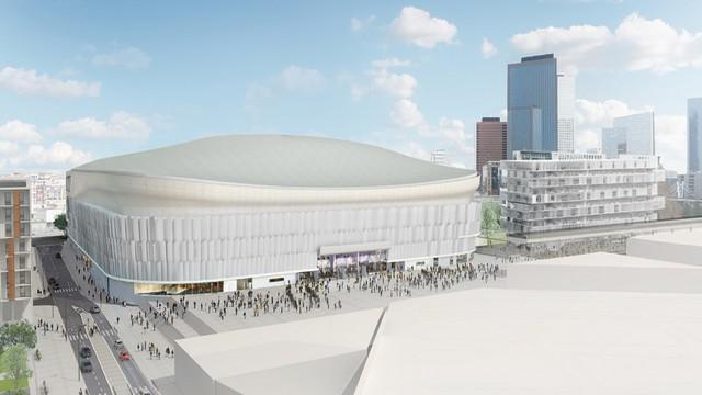 PHOTO. L'architecte aurait-il construit l'Arena 92 dans le mauvais sens ?