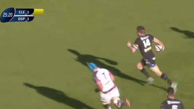 VIDEO. Champions Cup. David Strettle dépose la défense d'Exeter pour la large victoire de Clermont (42-10)