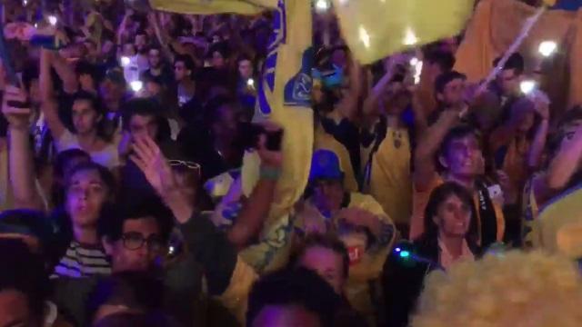 VIDEO. ASM : la belle communion des Clermontois avec leurs supporters, la Place de Jaude en folie