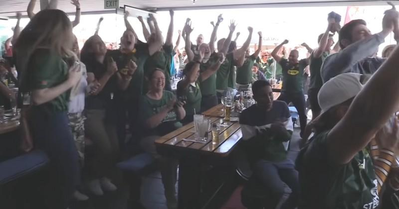 Au Cap, les supporters ont explosé de joie après la victoire des Springboks en finale [VIDÉO]