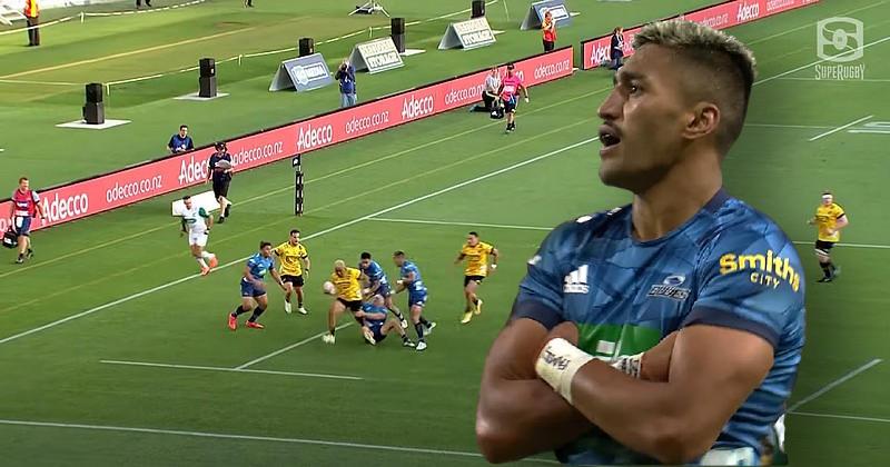 VIDEO. Super Rugby Aotearoa. Aumua emporte la défense des Blues, Ioane dépose celle des Hurricanes