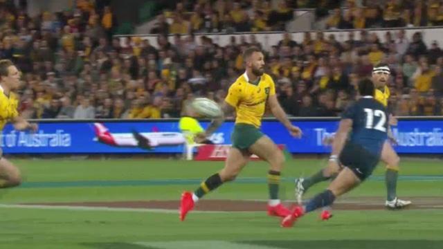 VIDÉO. Australie - Argentine. La superbe passe à l'aveugle de Quade Cooper pour l'essai d'Haylett-Petty
