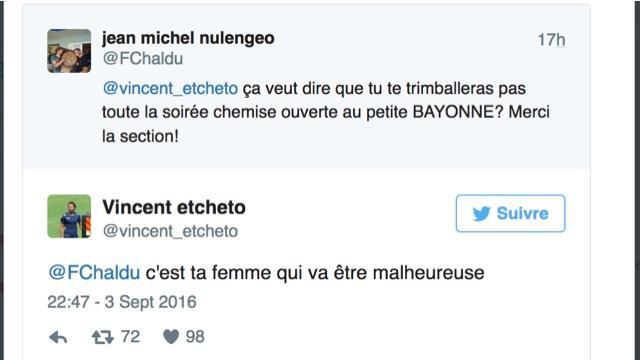 RÉSEAUX SOCIAUX. Aviron Bayonnais. Quand Vincent Etcheto règle ses comptes sur Twitter...