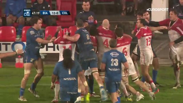 VIDEO. Pro D2. Distribution de cartons rouges après une bagarre lors de Biarritz vs Colomiers