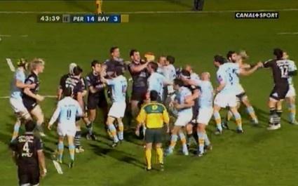 USAP vs Bayonne : Grosse bagarre en fin de match
