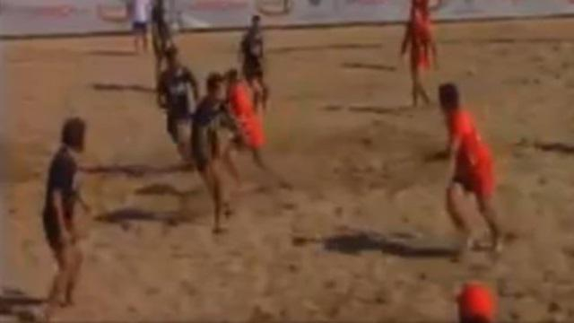 VIDEO. Beach Rugby. Cassage de rein et titre de champion d'Europe pour Oval Beach Marseille