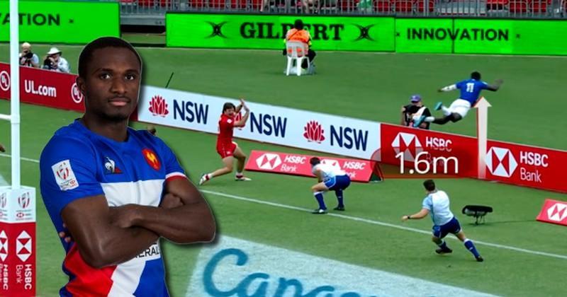Sydney 7s - Beaucoup trop rapide, Gabriel Ngandebe ne peut éviter le décollage
