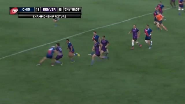 VIDEO. Pro Rugby USA. Denver file vers le titre malgré le très bel arrêt buffet de Spike Davis