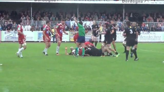 Rugby Amateur # 18. Video - Le demi d'ouverture de Bergerac fait un festival pour écarter Castelsarrasin et monter en Fédérale 1