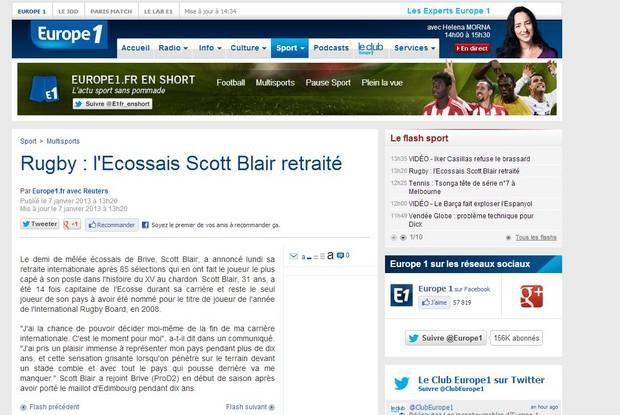 Mike Blair prend sa retraite internationale