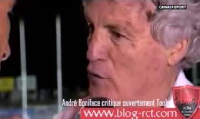 André Boniface flingue le RCT, Mermoz, Wilkinson et même le Stade Toulousain...