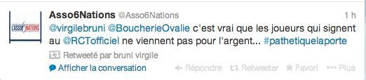 RCT : Virgile Bruni répond à Bernard Laporte, Twitter s'enflamme