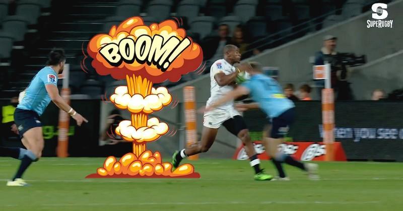 Super Rugby - L'ailier Cameron Clark a-t-il réalisé le plus bel arrêt buffet de l'année ?