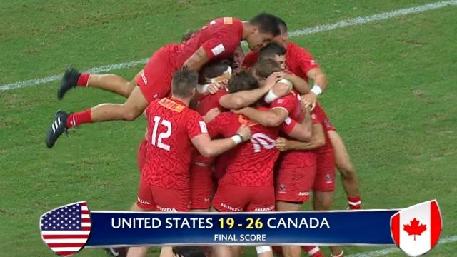 VIDEO. Singapour 7s - Le Canada bat les Blacks, l'Angleterre et les USA et remporte le premier tournoi de son histoire