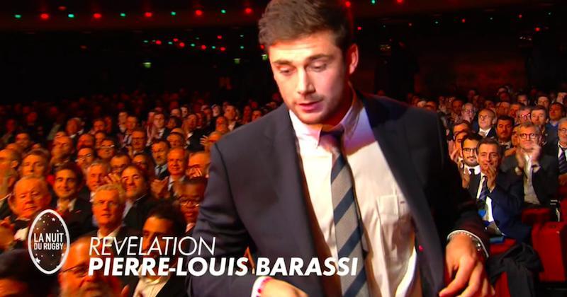 16e nuit du rugby - Pierre-Louis Barassi est élu révélation de l'année par ses pairs