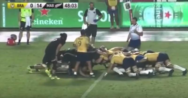 L'impressionnante poussée de la mêlée brésilienne face aux Maori All Blacks [VIDÉO]
