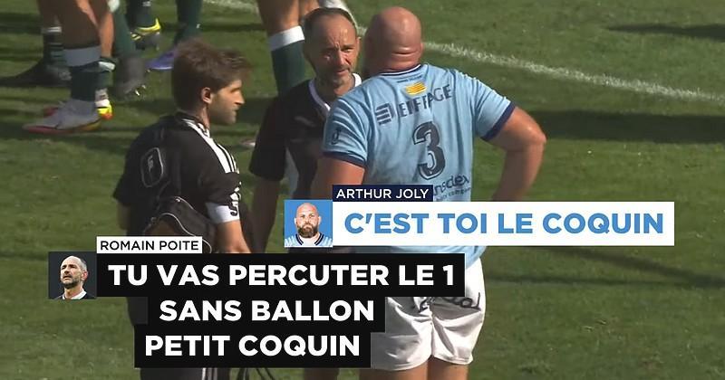 VIDEO. Top 14. ''C'est toi le coquin'' ! Cet échange bonard entre Poite et Joly est une superbe publicité pour le rugby