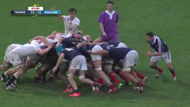 VIDEO. Championnat d'Europe U18. La mêlée française martyrise son homologue anglais
