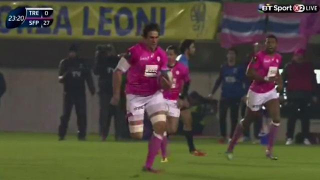 RÉSUMÉ VIDÉO. Champions Cup - Le Stade Français atomise Trévise en inscrivant sept essais (17-50)