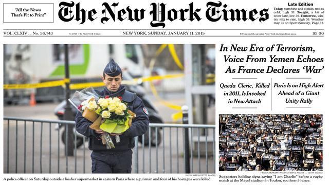 VIDEO. Charlie Hebdo. L'hommage des supporters du Stade Mayol fait la Une du New York Times