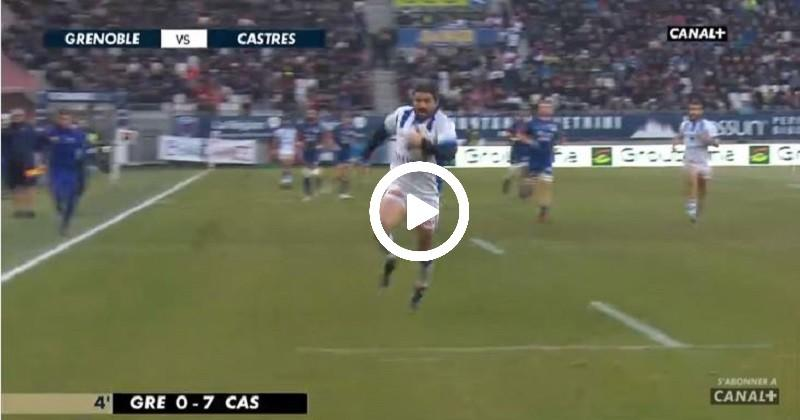 Rallier intercepte et s'offre un sprint de 50 mètres pour la victoire de Castres à Grenoble [VIDÉO]