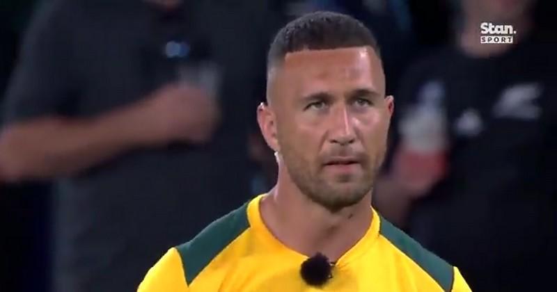 VIDEO. L'interview irréelle de Quade Cooper... en plein échauffement avant le match