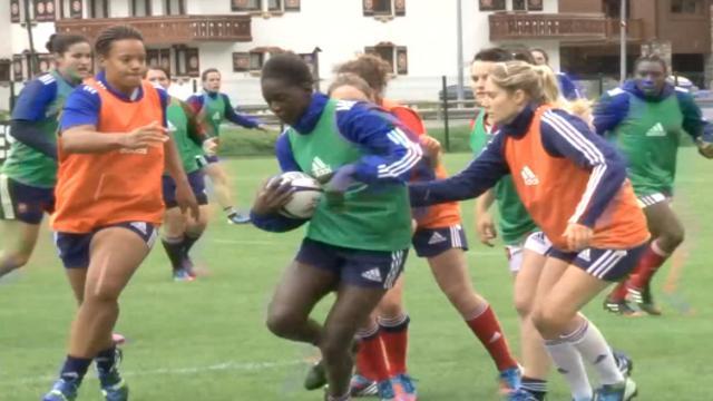 VIDÉO. Coupe du monde de rugby féminin : les joueuses de l'équipe de France travaillent dur à Tignes