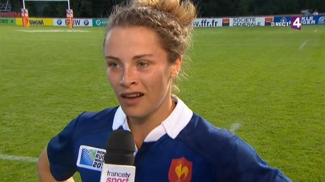 RESUME VIDEO. Coupe du monde de rugby féminin. Marion Lièvre fait parler sa vitesse face au Pays de Galles