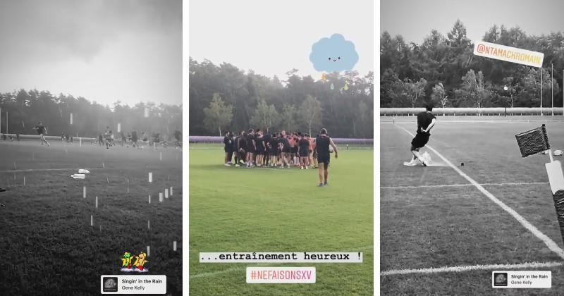 Coupe du monde - Les Bleus échappent aux vents de 200 km/h mais pas au déluge [VIDÉO]