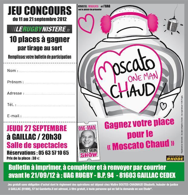 Gagnez vos places pour le spectacle de Vincent Moscato à Gaillac !
