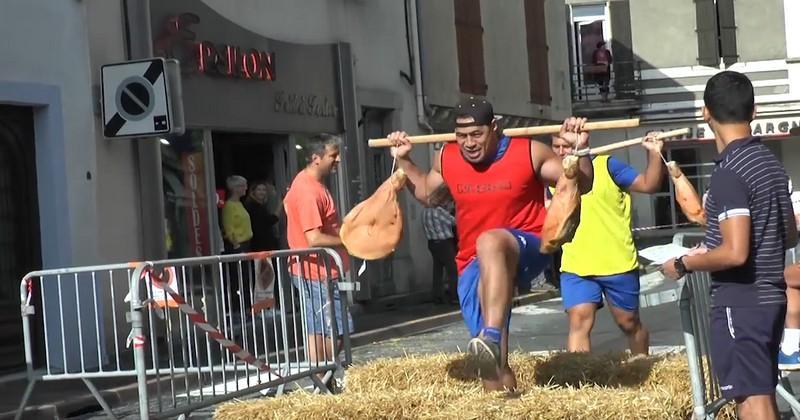 VIDÉO. Top 14 - Castres. Course de jambons, cuisine et lancer de haches au programme des Olympiades