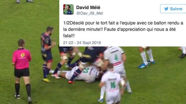 VIDÉO.  David Mélé fait son mea culpa après la défaite de Grenoble face à Pau