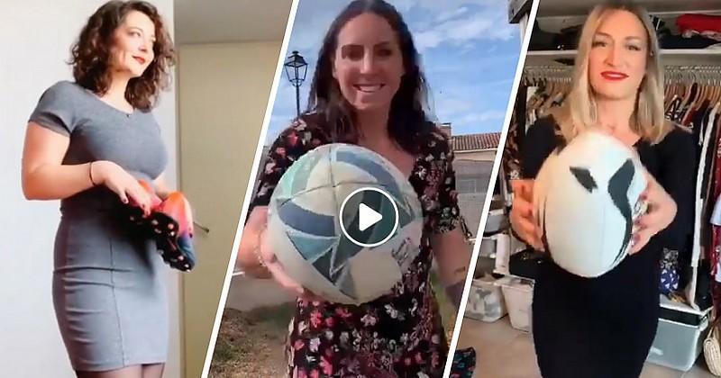Des joueuses nous offrent leur version rugby du Pinceau Challenge [VIDÉO]