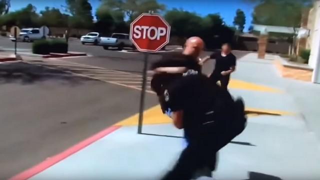 VIDEO. INSOLITE. Les plus gros plaquages des policiers américains commentés comme au rugby