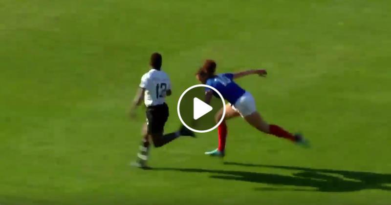Fantastique sauvetage de Caroline Drouin contre les Fidji [VIDEO]